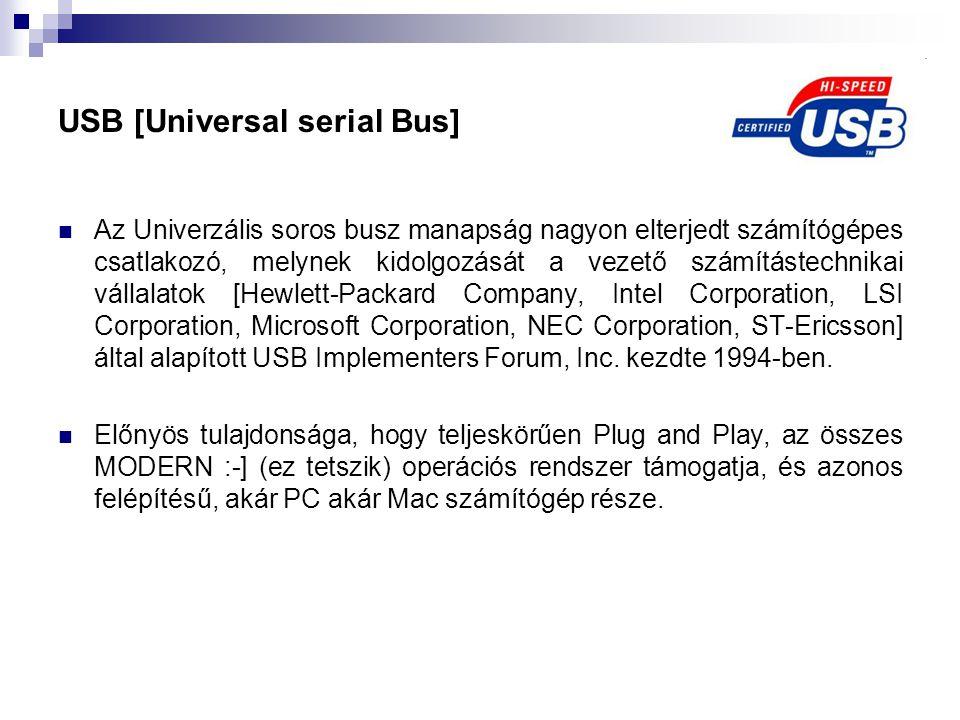 USB [Universal serial Bus]